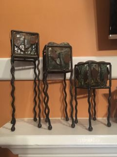Set of 3 Tiered Candle Holders