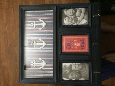 Picture frame holds 2 4.5 x6 Photographs