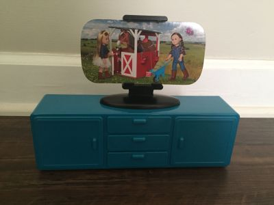 American Girl sized TV & TV stand
