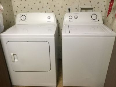 Full size washer and dryer like new