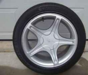 $200, 2000 mustang 17 inch pony wheels and tires