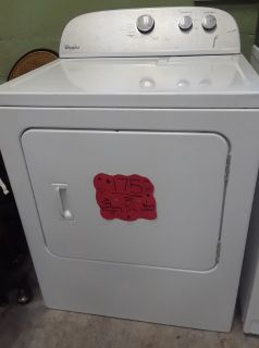Whirlpool Dryer w/ Super Capacity