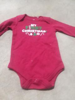 6-9 month first christmas onesie