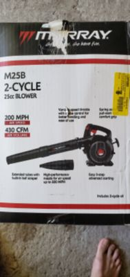 Murray 200 MPH 430 CFM 2-Cycle 25cc Gas Blower