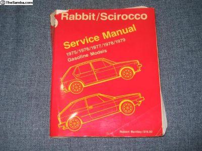 Official Rabbit Scirocco Bentley Manual