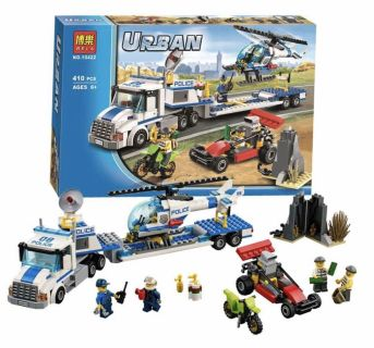 LEGO Urban City Police Force Helicopter Truck