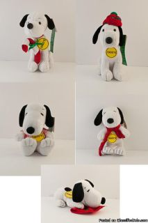 "Snoopy set of 5 ""Celebrate Peanuts 60 Years"""