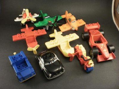 Lego Duplo 2012 Disney Pixar Cars Planes & Sheriff Car, Motorcycle, Racecar