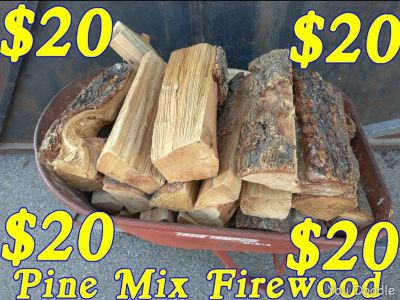 Firewood wheelbarrow special$20 pick up only