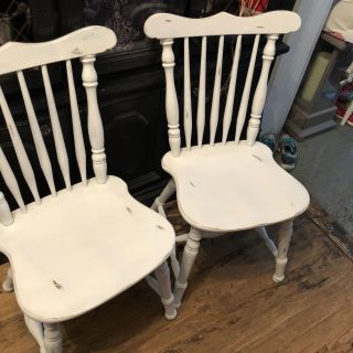 2 chairs, solid wood