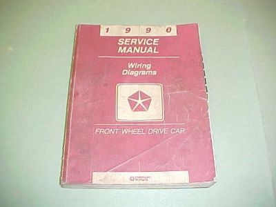 Sell 1990 ORIGINAL DAYTONA LEBARON WIRING DIAGRAMS SERVICE SHOP MANUAL 90 ELECTRICAL motorcycle in Leo, Indiana, US, for US $11.99