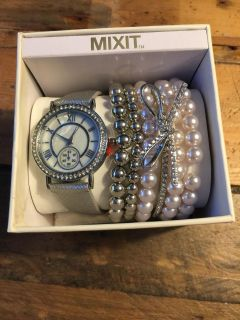 Mixit brand watch and bracelets- new