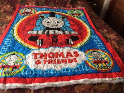QUILTED THOMAS THE TRAIN FABRIC
