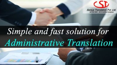 Expedited Administrative Translation services at your fingertips.