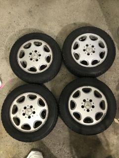 Winter Tires with Mercedes Mag rims