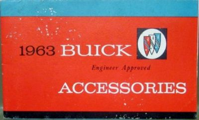 Buy 1963 Buick Engineer Approved Accessories Sales Brochure Original motorcycle in Holts Summit, Missouri, United States, for US $20.00