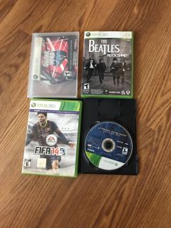 Lot of 4 xbox360 games