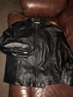 Pure Energy faux quilted leather motorcycle jacket... like new!! Size 2X