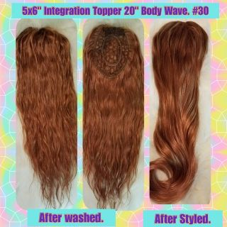 Integration Topper piece Body Wave 20""