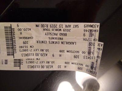 Brad Paisley Laughlin Event center TONIGHT!
