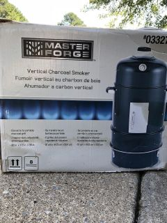 New Master Forge Vertical Charcoal Smoker