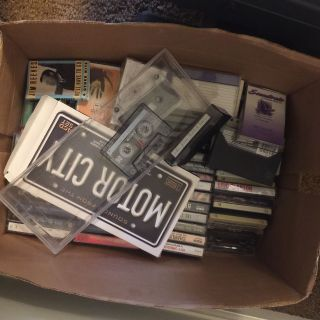 Box of cassette tapes