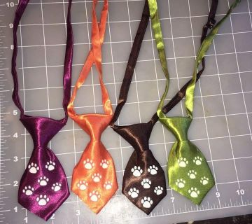 Fall colors pet ties with glow in the dark paw prints for small/medium pets