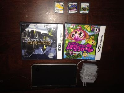 Dsi xl with 5 games