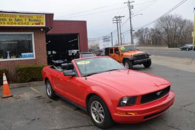 2005 Ford Mustang V6 Deluxe (Red Fire Metallic With Black Soft Top)
