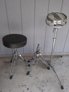 Used Drum Throne Seats and Snare Drum stand