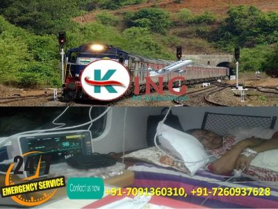Take Scrimped Costing Train Ambulance in Guwahati by King