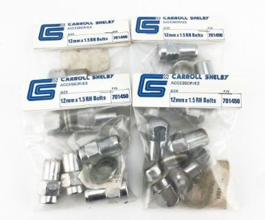 Buy 16 Original Carroll Shelby 12mm x 1.5 RH Bolts/Lugnuts P/N 701450 motorcycle in Redmond, Washington, United States
