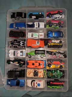 Over 100 cars and double sided case.