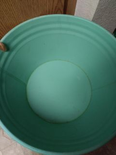 Tin round turquoise with chalk front barely used good condition farmhouse style $7 elk grove or sacramento xposted