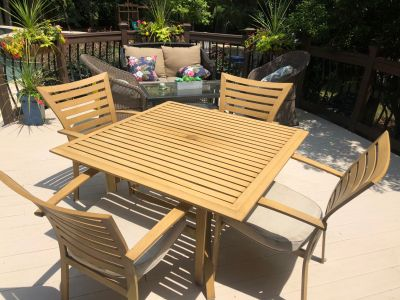 Allen and Roth Aluminum outdoor table and chairs