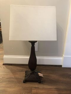 Heavy bronze/table lamp 28.5 in. Tall