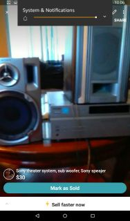 Sony theater system sub woofer and sony speaker