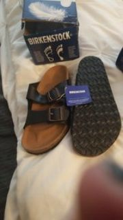 brand new birkenstocks leather
