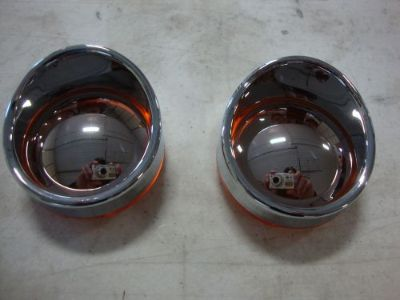 Purchase BIG DOG TURN SIGNAL MIRROR AMBER LENS PAIR VISOR W/ SIDE MARKER FRONT OR REAR motorcycle in Lyons, Kansas, United States