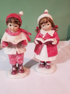 Christmas decorations with glitter
