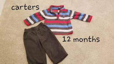 Baby boy carters fleece outfit 12 months