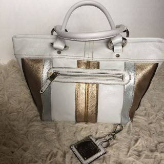 Tignanello metallic leather bag
