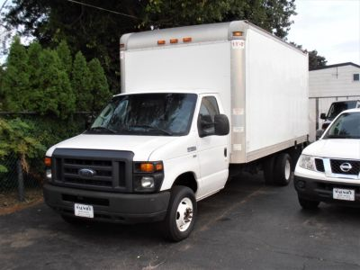 "2015 Ford E350 CUTAWAY 16 FT BOX TRUCK E-350 Super Duty 176"" DRW (Oxford White)"