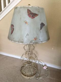 Shabby Chic Metal Butterfly Lamp