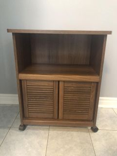 Microwave Stand With Storage. Great For Apartment/Cottage/Trailer
