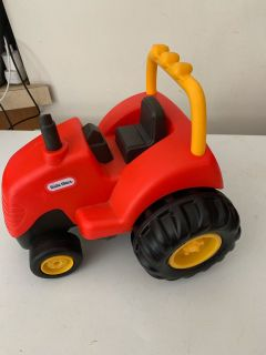 Little tikes red play tractor