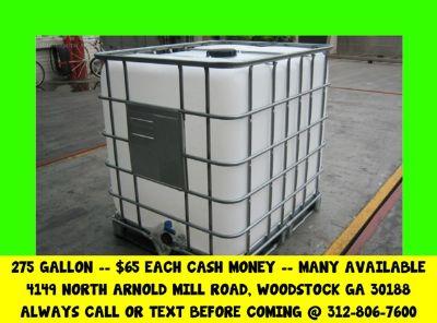 $65 ATLANTA georgia IBC tote totes water tank tanks rain barrel barrels drum drums