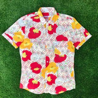 Mr Turk Floral Button front shirt size Large