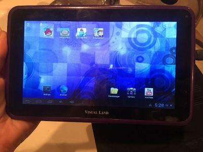 Visual Land Prestige 7 Tablet with case