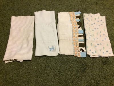 Used burp cloths cloth diapers blue